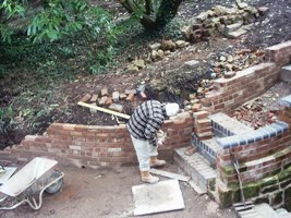 John gets back to bricklaying