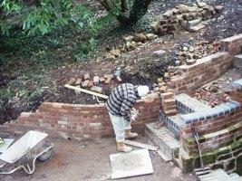 John gets back to bricklaying