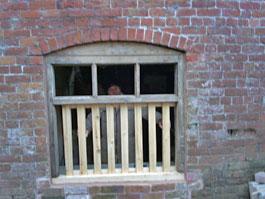 Richard caught behind bars