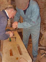 Using a traditional brace and bit
