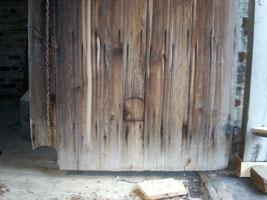 Cat flaps in the hay-loft door