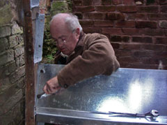 Colin working on the waterwheel)