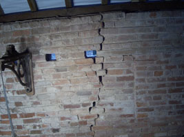 A bit of a crack in the brickwork