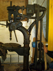 The Denbigh pillar drill we were given
