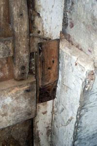 New door latch in place
