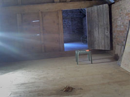 The finished hay-loft floor