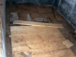Work in progress on the garner floor
