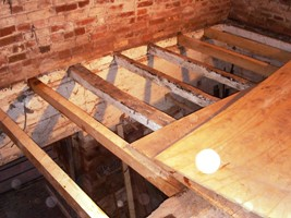 Spot the four new joists