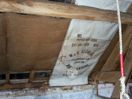 Local hop sacks make a traditional roof lining
