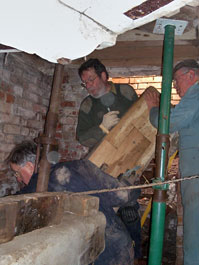 Getting the hurst post into position