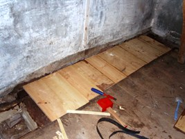 Repairs to the mill floor