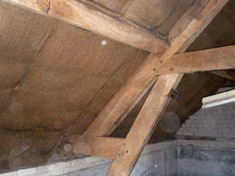 Hessian roof lining