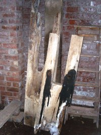 Rotten timber from the hurst