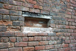 Bricked up vent