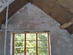 limewashed gable