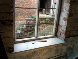 A new window-sill in place