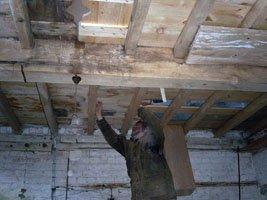 Floor repairs from underneath