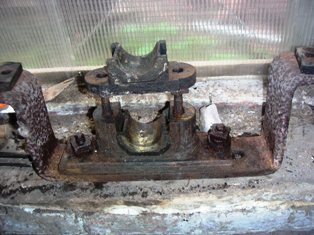 PTO bearing dismantled for inspection