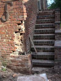 Progress with repairing the corner of the barn