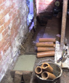Drain Pipes and Footings