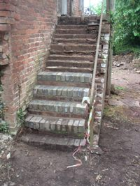 Work in Progress on the Hayloft Steps