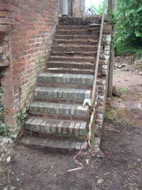 Work in Progress on the Hayloft Steps