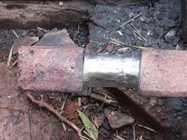 The worn bearing repaired and rough ground