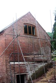 The North Window in place