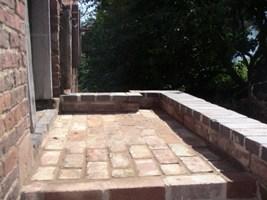 Finished platform outside the hay-loft door