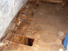 Dry rot in the floor