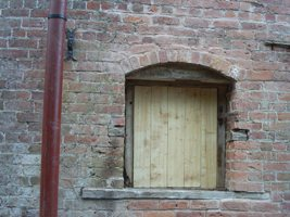 A new shutter above the waterwheel