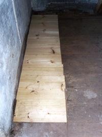 Newly repaired flooring