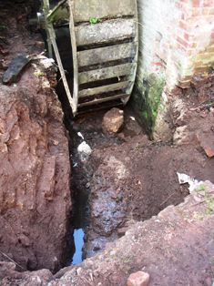 The tailrace dig at the end of August 29th