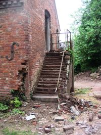 The Hayloft Steps Cleaned Off
