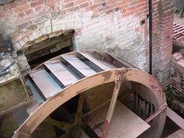 Waterwheel nearing completion