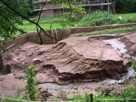 Pool after the 20th July floods